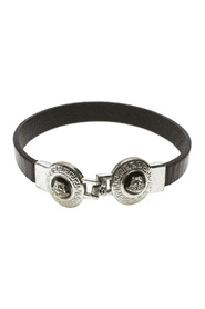 Medusa Leather Bangle