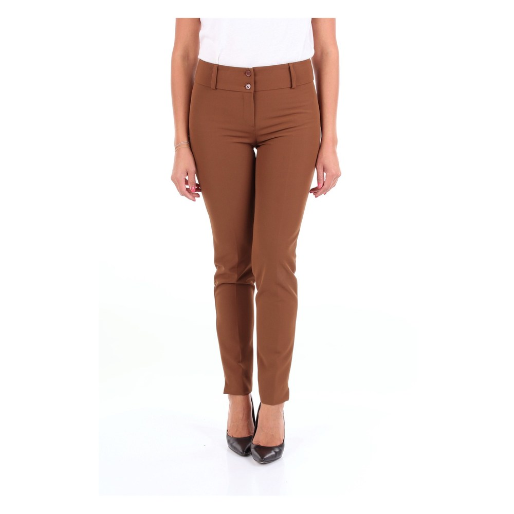 Brown Trouser  CHANTUSELLE  Chinosy  Showroom.pl 9dcIa