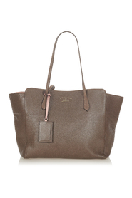 pre-owned Swing Leather Tote Bag Leather Calf