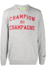 CHAMPION DU CHAMPAGNE EMBROIDERED SWEATER