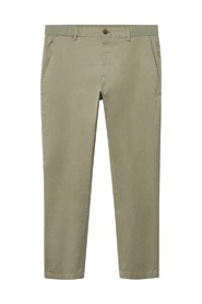 Cropped tapered chino trousers