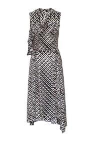 Moon Lozenge Hybrid Long Dress