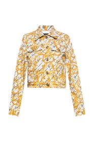 Barocco-printed denim jacket