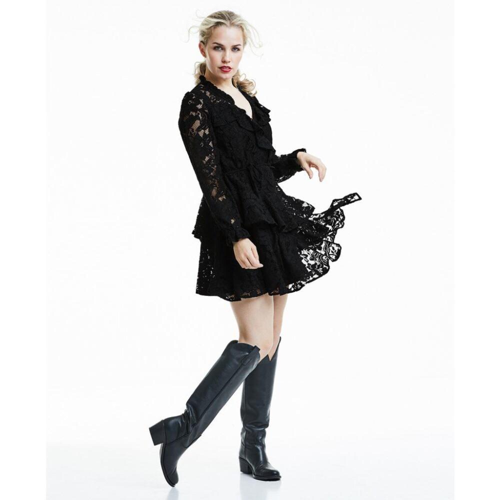 Black Queen Lace Dress  Line of Oslo  Festkjoler - Dameklær er billig