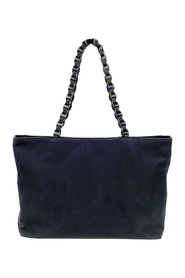 Tiered Grosgrain Chain Tote Bag