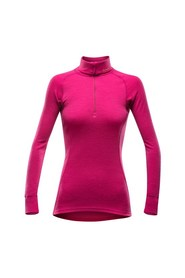 Devold Duo Active Zip Neck Dame Cerise