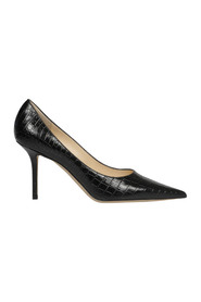 LOVE CROC EMBOSSED PUMP