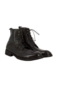Ankle boots in soft ebony leather