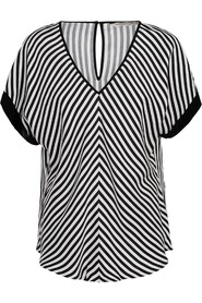 Top short sleeves striped