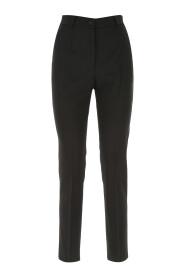 High-waisted woolen pants