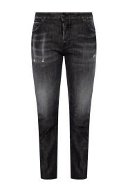 Cool Girl Jean' rå-cut jeans