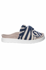 Inuikii Slipper Knot Striped Blue Sandaler