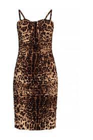 Leopard-printed slip dress