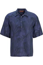 Kurzarmhemd mit Palmenprint