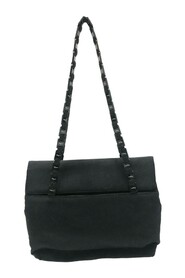 Tiered Grosgrain Chain Shoulder Bag Fabric Andre