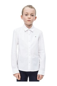 CALVIN KLEIN IB0IB00057 STRETCH POPLIN SHIRT Boy WHITE