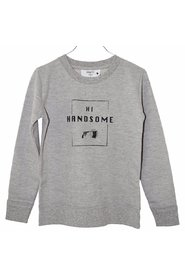 KNAST by KRUTTER - Sweatshirt LS, Handsome - Grey Melange