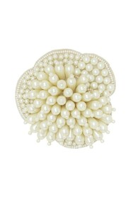 Ziva Pearl Flower Broche