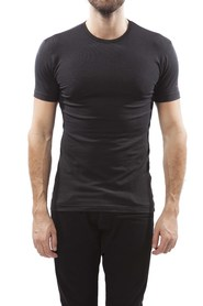 Claesens T-shirt Stretch Round Neck Black ( 2 Pack)