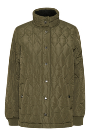 salle Short Quilted Coat w. Stand