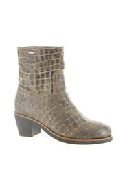 Shabbies 182020105 Grey Croco 2058 Grijstaupe Enkellaars