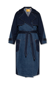 Denim trench coat Red collection