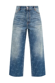 Høy innsnevrede jeans