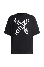 Black Sport T-shirt with crossed logo