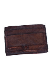 garment dyed natural cowhide leather compartments for credit cards