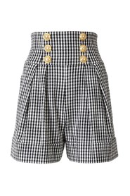 Gingham Check Shorts