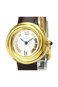 Pre-owned Must Trinity Quartz Gold Plated Women's Dress Watch W1010744