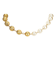 Faux Pearl and Metal Necklace
