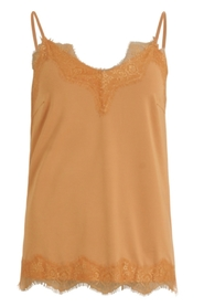 Coster Copenhagen - Strap Top With Lace - Cashew