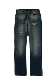 Wash Torn Cotton Slim Fit Jeans