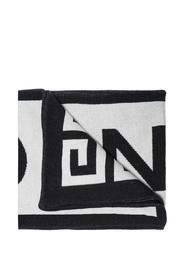 Logo-embroidered scarf