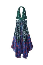 Asymmetric Printed Cut Out Dress