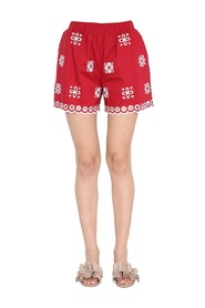 SHORTS WITH EMBROIDERED CUT OUT