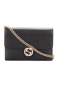 Interlocking Leather Wallet On Chain