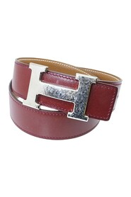 Pre-owned Reversible Martelee Constance Leather Belt