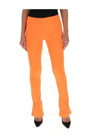 skinny-fit flared trousers