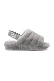 'W Fluff Yeah Slide' fur slippers