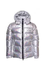 Puffer Jacket Hologram Striped