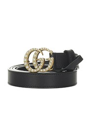 Pre-owned GG Marmont Leather Belt