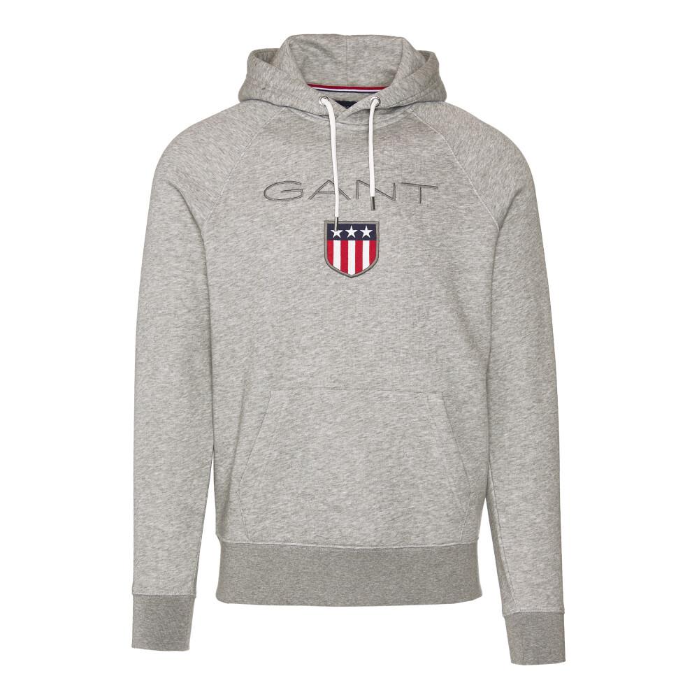 Gant Shield Hoodie 276.310 shirt Grå