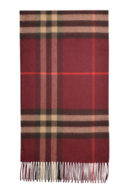 Giant Check Scarf in Cashmere