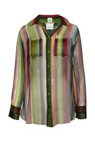 See-Through Multicolor Silk Shirt -Pre Owned Condition Good