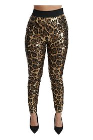 Leopard Sequined Legging Pants