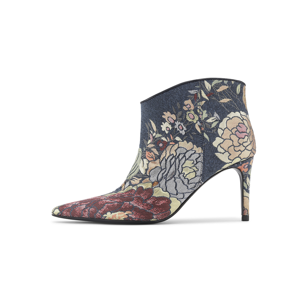 Abby Denim Jacquard Boots