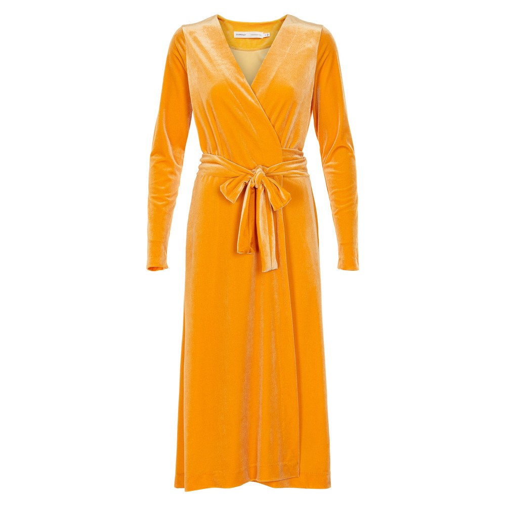 In Wear Voltaire Dress Autumnal Yellow