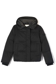 hooded padded down jacket